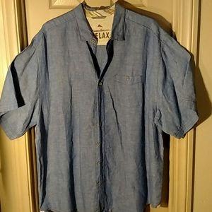 Tommy Bahama Relax 100% Linen Chambray shirt